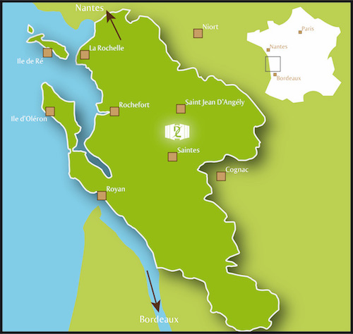 Tourism map of Charente-maritime