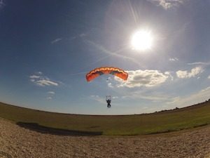 Paragliding to Royan